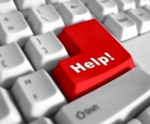 Red keyboard help button